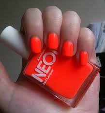 american apparel neon coral nail polish review through the