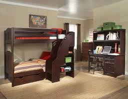 modern twin bunk beds with stairs