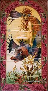 ceramic tile murals for kitchen backsplash great egret bird portrait custom designed decorative kitchen