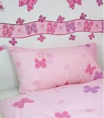 Butterflies Pink And Lilac Metallic Wallpaper Border - Kids room wallpaper borders
