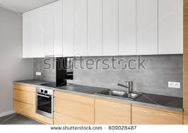kitchen furniture pictures modern apartment living room open kitchen stock photo 552165496