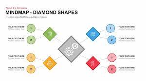 mindmap diamond shapes powerpoint keynote template slidebazaar