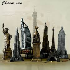 eiffel tower decorations metal 3d world architectural bronze ornaments of eiffel