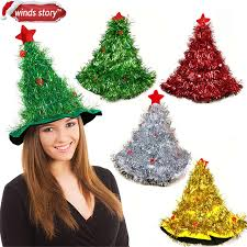 christmas tree hat tinsel christmas tree hat on 1pc headband christmas