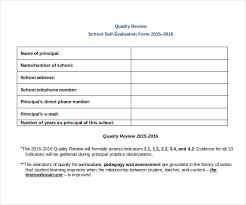 principal evaluation form self evaluation examples 28 50 self