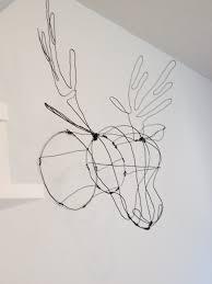 diy faux taxidermy wire deerhead pinterest project