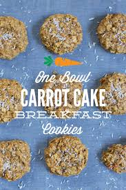 one bowl carrot cake breakfast cookies live simply