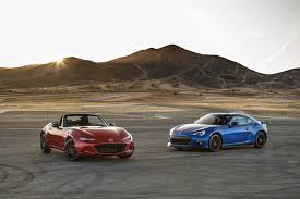 miata dealership 2016 mazda mx 5 miata vs 2015 subaru brz comparison motor trend