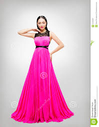 model dress dress woman fashion model pink gown high waist stock