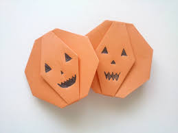 halloween origami pumpkin tutorial youtube