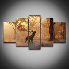 Wildlife Home Decor by Wall Art Awesome Deer Canvas Art Charming Deer Canvas Art 5