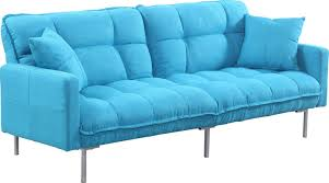 Teal Tufted Sofa by Zipcode Design Frederick Modern Plush Tufted Convertible Sofa