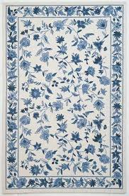 Floral Area Rug August Grove Labrosse Ivory Blue Floral Area Rug U0026 Reviews Wayfair