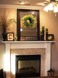 decorations vintage wooden fireplace mantel decorating with