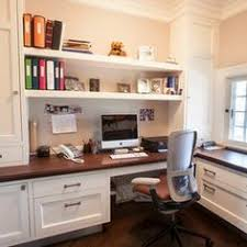 Basement Office Design Ideas Diy Office Built Ins Using Stock Kitchen Cabinets And Custom