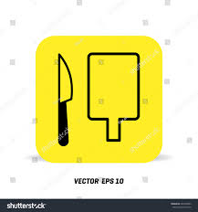 Restaurant Kitchen Knives Cutting Board Knife Icon Chef Restaurant Stock Vector 684320002