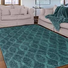 Aqua Area Rug 5x8 Contemporary Quatrefoil 5x7 Teal Area Rug Carpet Accent Damask