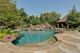 Gravel Fire Pit Area - dallas landscaping tx landscape rustic with gravel walkway