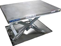 Pallet Lift Table by Guardian Low Profile Stainless Steel Cold Galvanized Lift Tables