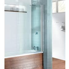 simpsons design single bath screen silver clear