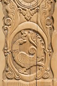 Door Pattern Wooden Firebird Russian Door Pattern Stock Photo Picture And