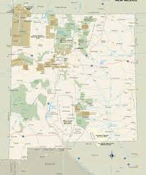 New Mexico national parks images New mexico national parks monuments and forests map jpg