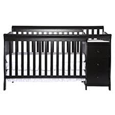 Black Convertible Cribs On Me 5 In 1 Brody Convertible Crib With
