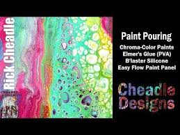 chroma color paint pouring pva b u0027laster silicone easy flow panel