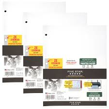 amazon com five star reinforced printer paper 3 hole punched