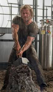 hemsworth muscles hammer it s a new thor pic