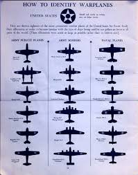 1942 wwii warplane identification chart us air force силуэты
