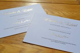 wedding invitations printing wedding invitations printed in gold foil black litho flat print