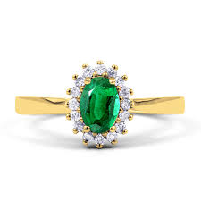 gold emerald engagement rings 18ct yellow gold emerald floral engagement ring
