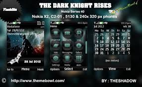 nokia 5130 menu themes the dark knight rises theme for nokia 5130 c2 01 x2 00 and 240 x