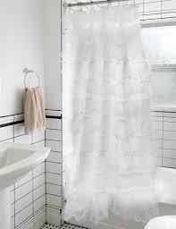 Gray Ruffle Shower Curtain Primadonna Shower Curtain White Ruffle Shower Curtain