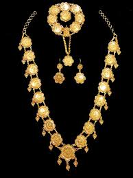 yellow gold necklace set images Yellow gold necklace set alquds jewelry jpg