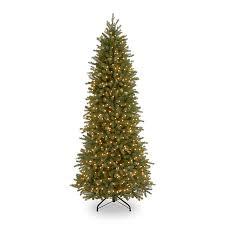 decoration ideas slim green pencil christmas tree with green leaf