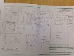 autocad bungalow floor plan vanessa u0027s portfolio