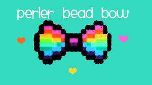 how to a rainbow perler bead bow