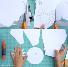 printable large flowers to make giant paper roses plus a free petal template