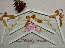 personalized wedding hangers set of 4 wedding hanger personalized wedding dress racks