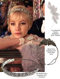 great gatsby headband great gatsby hair accessories inspired by carey mulligan s flapper