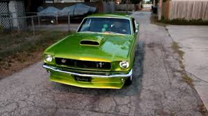 Black And Lime Green Mustang Elphaba The Wicked 1965 Mustang Prostreet Fastback
