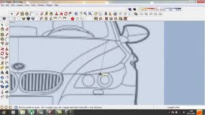 google sketchup tutorial how to do a car in 3d part 1 youtube
