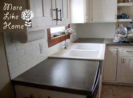 faux brick kitchen backsplash more like home diy faux brick backsplash