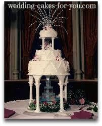wedding cakes with fountains flashy wedding cakes with fountains for the adventurous and