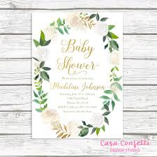 baby shower brunch invitations green baby shower invitation baby shower brunch invitation