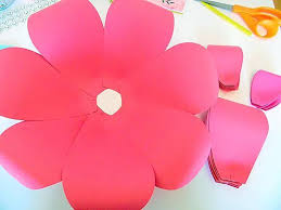 printable large flowers diy giant paper flowers easy backdrop flower tutorial with