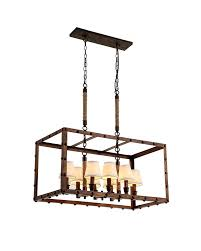 Metal Chandelier Frame Vintage Industrial Iron Chandelier With Horizontal Rectangular