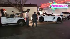 Tyga Detained By Police As His Lamborghini Aventador With No